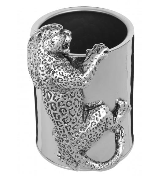 Portapenne  Bronzobianco - Collezione Leopardo - Spedizione Gratuita