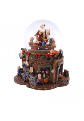 Carillon Fabbrica di Babbo Natale  - Collezione Nostalgic - Spedizione Gratuita