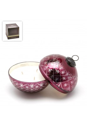 Candela Luxury Ball Burgundy Media - Fragranza Oud