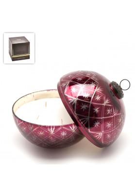 Candela Luxury Ball Burgundy Grande - Fragranza Oud