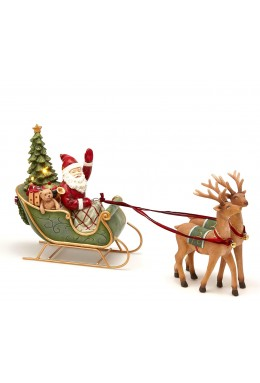 Slitta Babbo Natale /Renne  con Led - Collezione Toy's Story