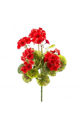 Fiore di Geranio Rosso Artificiale EDG - Linea Flowers