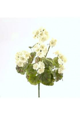 Fiore di Geranio Bianco Artificiale EDG - Linea Flowers