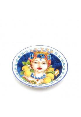 Piatto Caltagirone Donna Frutta EDG - Linea Sicily