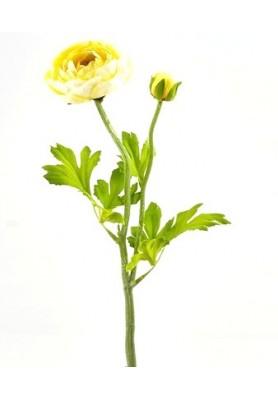 Fiore di Ranuncolo Giallo Artificiale EDG - Linea Flowers