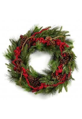 Pine Berry Pine Cone Wreath  - Linea Hound Hunt