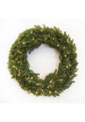 Pine Wreath Whit Lights - Linea Santa in love -Spedizione Gratuita
