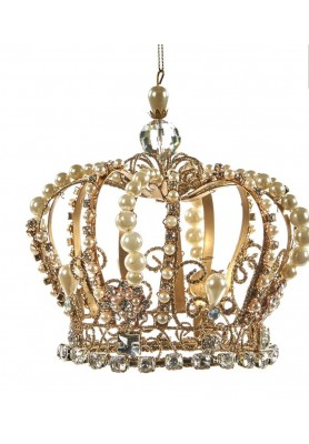 Royal Wire Crown Ornament - Katherine's Collection - Linea Thread of Gold