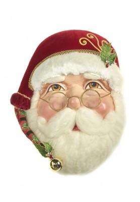 Santa Wall Mask- Katherine's Collection - Linea Tartan Tadition