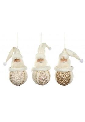 Royal Santa Ball Ornament Ass/3 - Katherine's Collection - Linea Thread of Gold - SPEDIZIONE GRATUITA