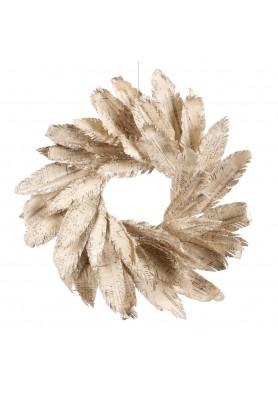 Script Leaf  Wreath  - Linea Nostalgic