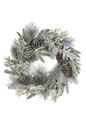 Ghirlanda Pigne Innevata - Linea Winter Frost