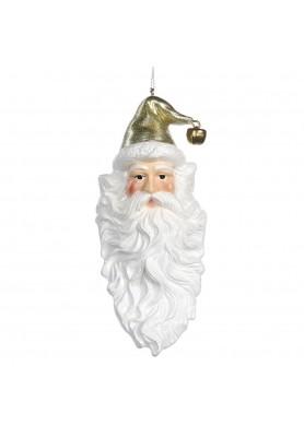 Santa Head Ornament - Katherine's Collection - Linea Peace on Earth