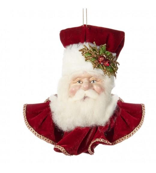 Classic Santa Head- Katherine's Collection - Linea Classic Santa