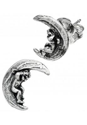 Orecchini Bottone-Angelo su Luna