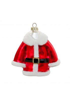 Glass Santa's Coat Ornament - Linea Inge' Christmas