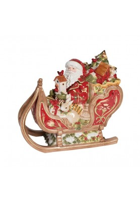 Scatola Slitta di Babbo Natale - Collezione Damask Holiday - Fitz and Floyd