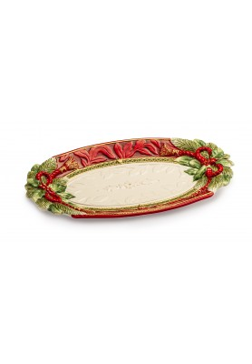 Vassoio Holiday Ovale - Collezione Holiday Tidings - Fitz and Floyd