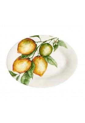 Piatto ovale decoro Limoni - Linea Simple Day