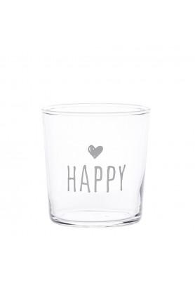Set 6 Bicchieri acqua decoro Happy - Linea Simple Day