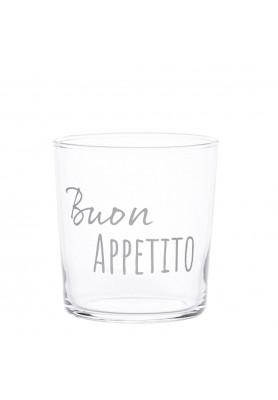 Set 6 Bicchieri acqua decoro Buon Appetito - Linea Simple Day