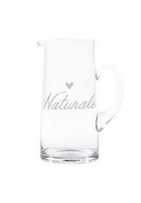 Brocca in vetro con  decoro Naturale - Linea Simple Day