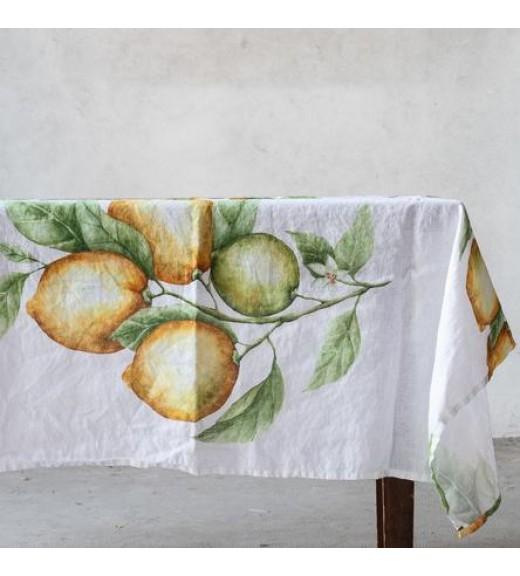 Tovaglia in Lino stampa Limoni 160x260 - Linea Simple Day