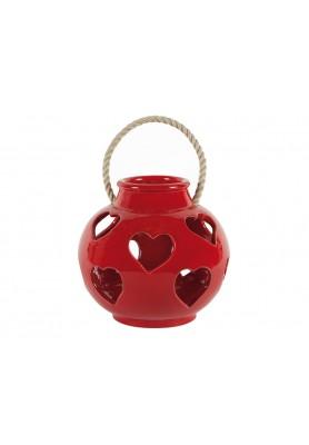 Lanterna Cuori Rossa Piccola  - Linea Lanterna