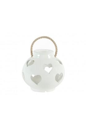 Lanterna Cuori Bianca Piccola  - Linea Lanterna